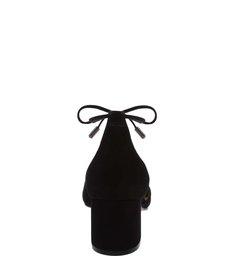 Sapato Block Heel Lace-Up Nobuck Black