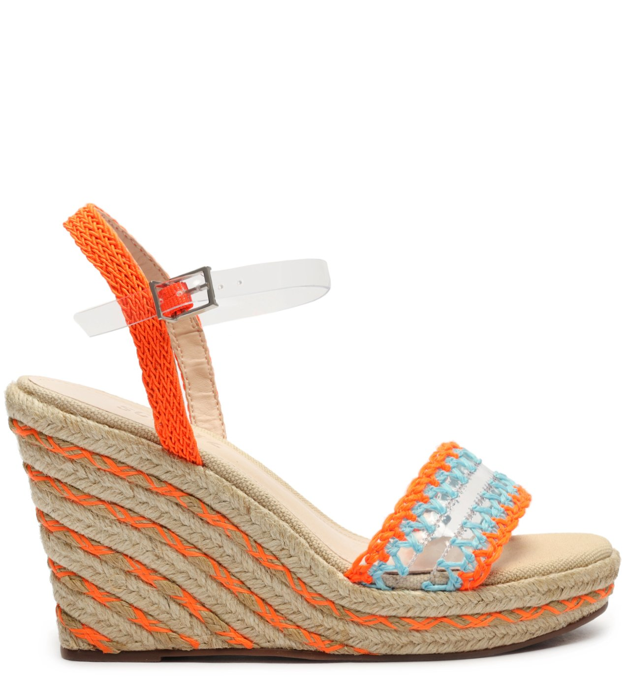 Sandália Anabela Fresh Orange | Schutz
