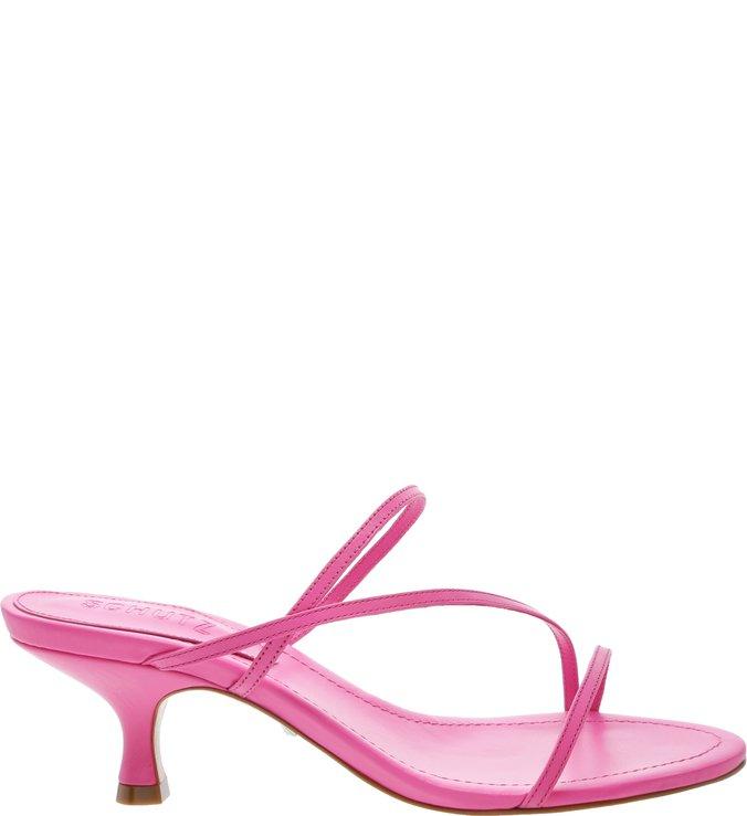 Sandália Mule Strings Neon Pink