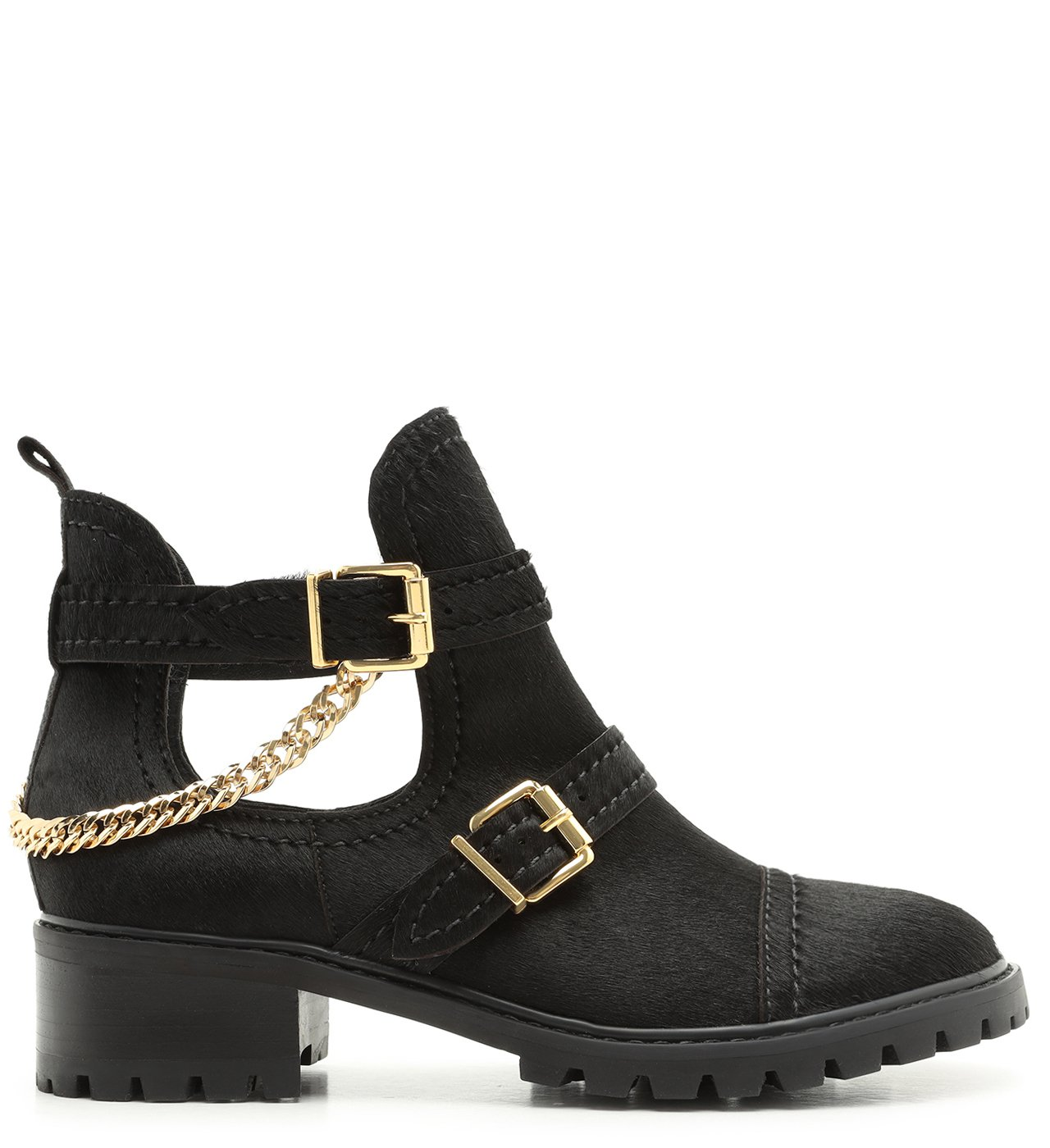 Bota Stella Cut Out Suede Black | Schutz