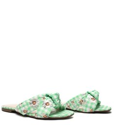 Flat Vichy Floral Green