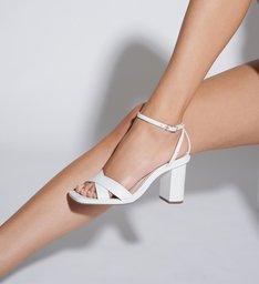 Sandália Salto Straps White