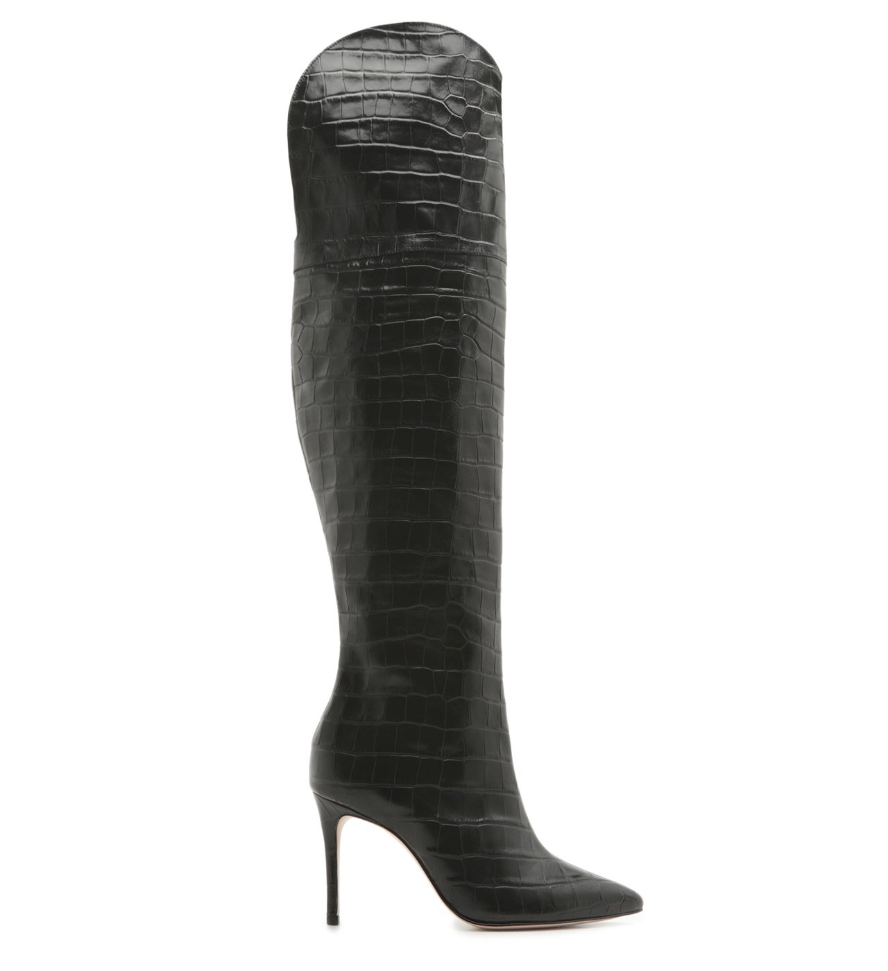 Bota Maryana Over The Knee Croco Black | Schutz