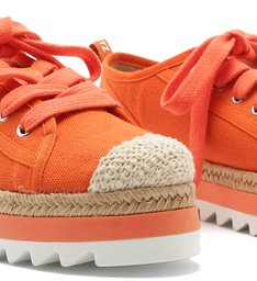 SNEAKER FLATFORM SPORTY NATURAL ORANGE