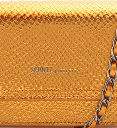 CROSSBODY 4GRLS LORENA SNAKE METALLIC ORANGE