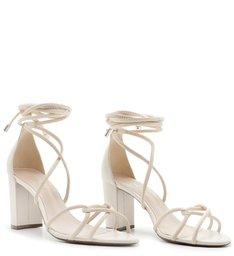 Sandália Strings Lace-up White