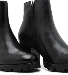 Ankle Boot Tratorada Logo Black