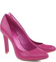 Scarpin Classic Salto Alto Verniz True Pink