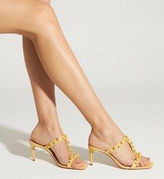 Sandália Mule Studs Full Color Yellow