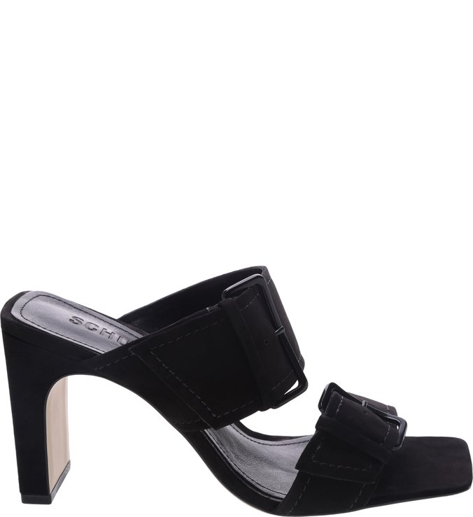 Sandália Mule Super Buckle Black