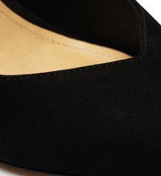 Sapato Scarpin Slingback Salto Arquitetônico Preto