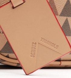 Bolsa Tiracolo Kate New Triangle Amendoa