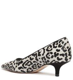 Sapato Scarpin Onça Couro