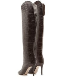 Bota Maryana Over The Knee Croco Brown