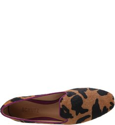 Mocassim Cow Print Brown