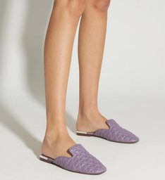 Flat Mule Matelassê Candy Violet