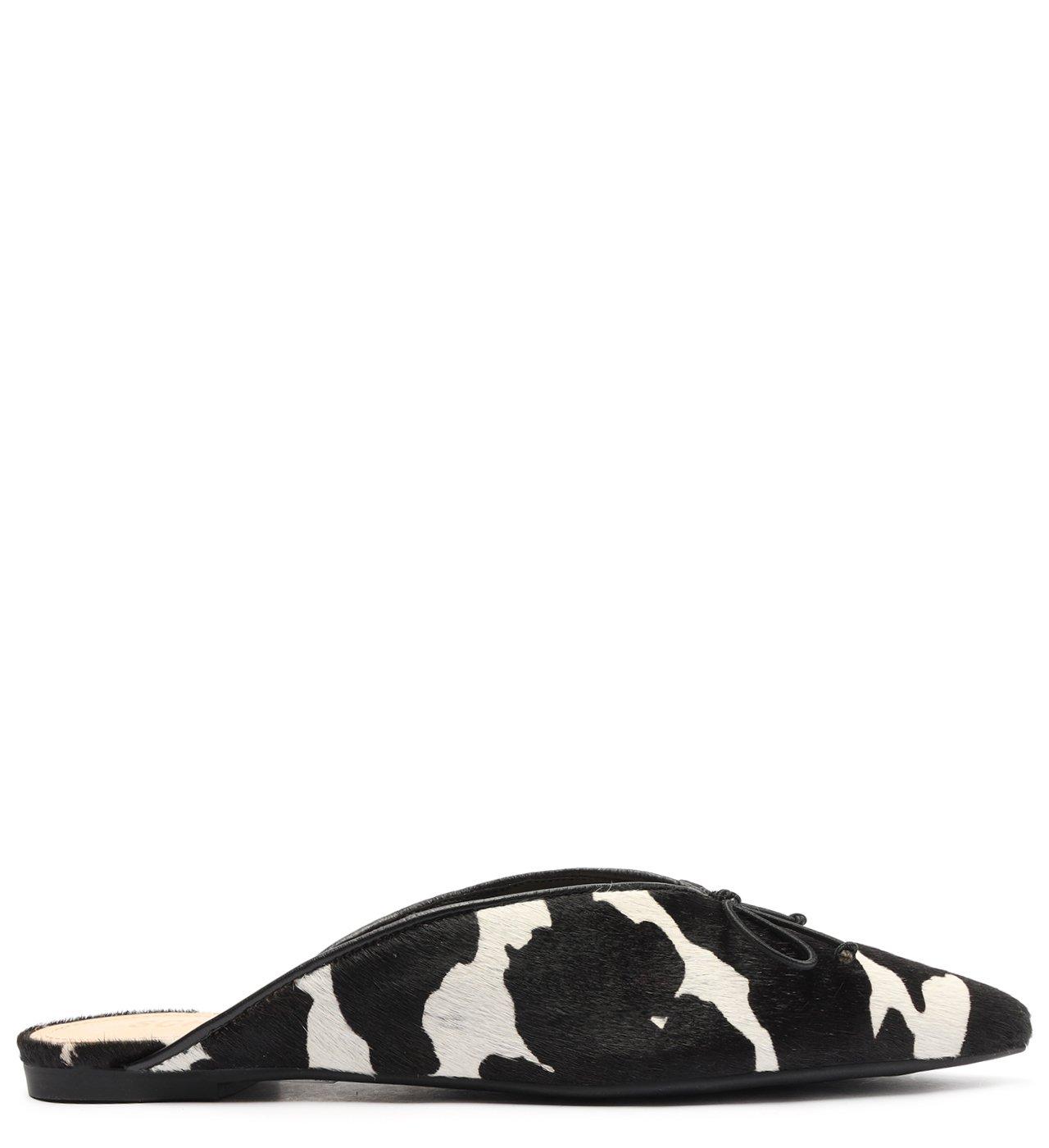 Flat Mule Deluxe Black&white | Schutz