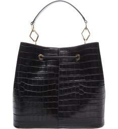 New Bucket Bag Croco Black