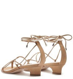 SANDÁLIA LACE-UP MICRO HEEL NEUTRAL