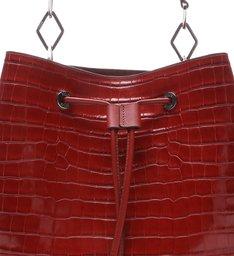 New Bucket Bag Croco Red