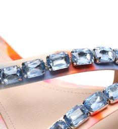 Rasteira Crystal Glam Tie-Dye