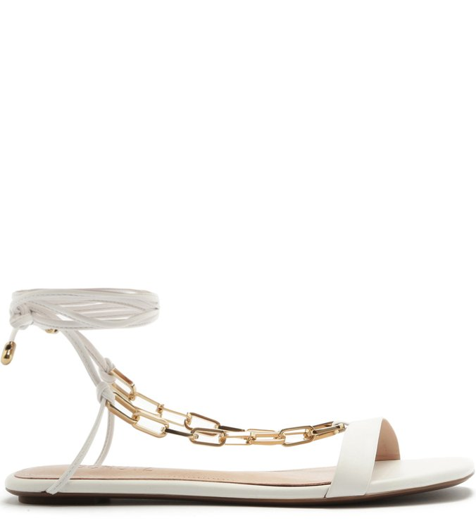 Flat Lace-Up Fun Chain White | Schutz