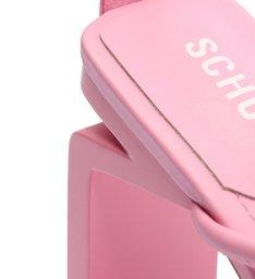 Sandália Salto Alto Geométrico Millie-X Tiras Rosa