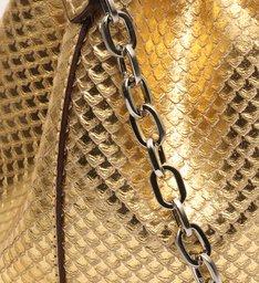 Bucket Bag Drop Snake Gold