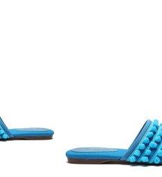 Flat Mule Fun Blue