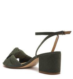 Sandália de Salto Camurça Verde