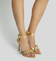 Sandália Bico Folha Golden