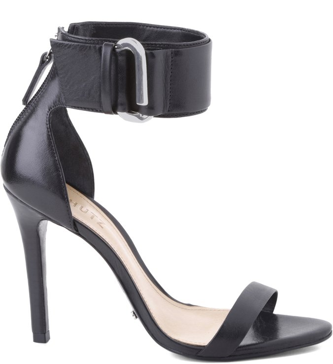 Sandália Ankle Stripe Black