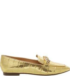 Mocassim Croco Golden