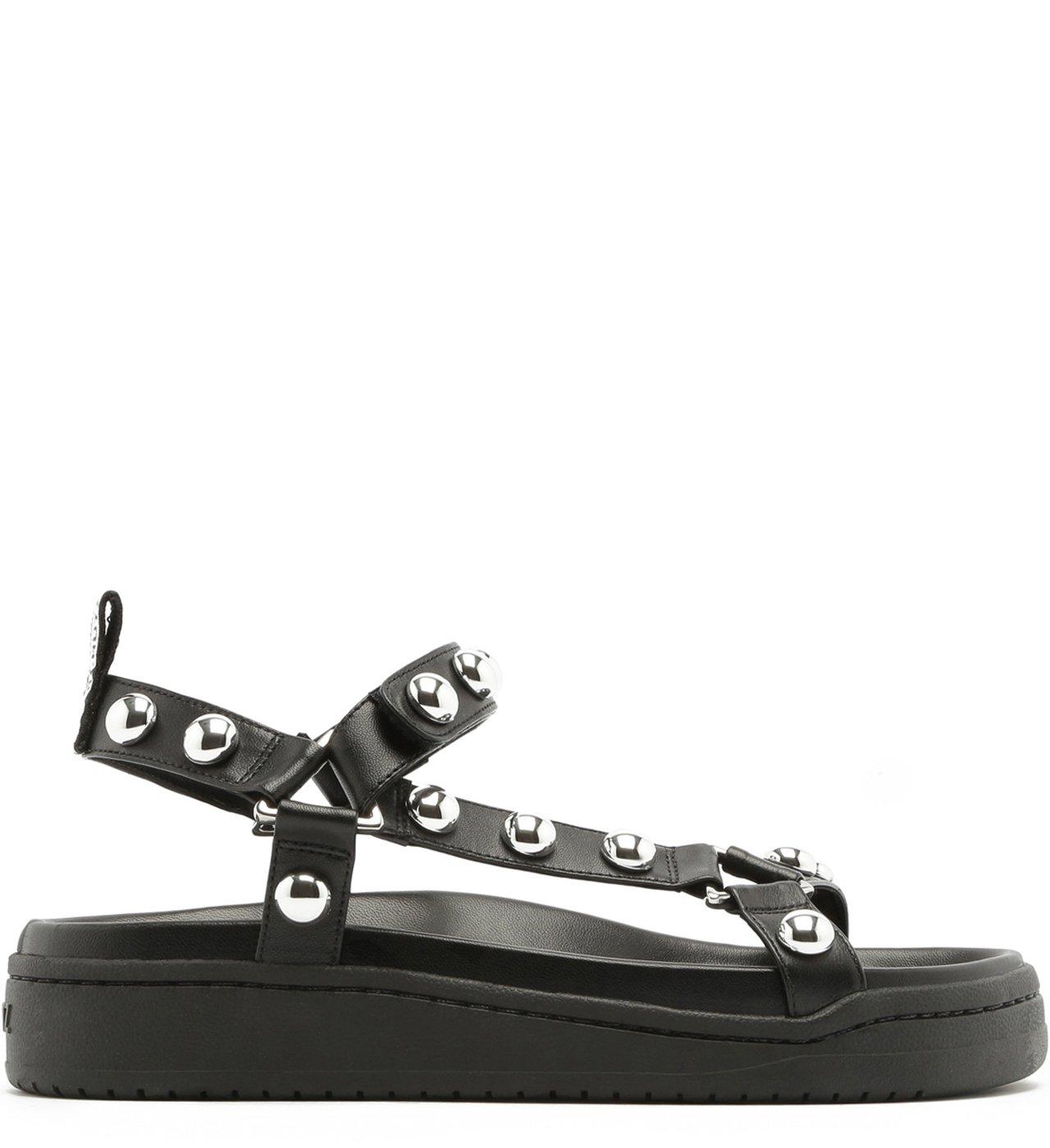 Sporty Sandal Studs Black | Schutz