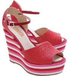 Plataforma Lace Up Tango Red