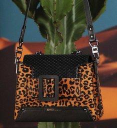 Satchel Buckle Bag Animal Print