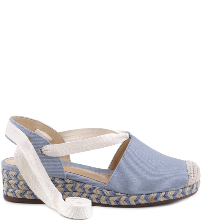 Espadrille Cap Toe Light Blue Jeans