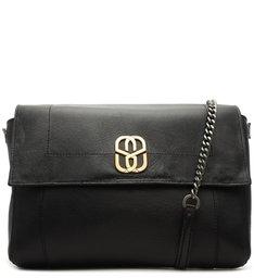 Shoulder Bag Double Face Bright Snake Black
