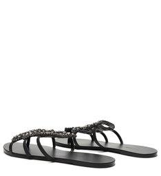 Flat Snake Glam Pedraria Black