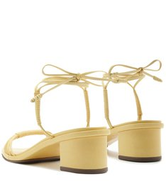 SANDÁLIA BLOCK HEEL STRINGS POP YELLOW