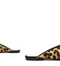 Flat Mule Verniz Leopard