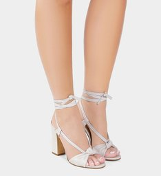 Sandália Salto Couro Pearl