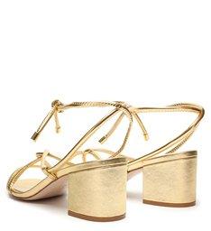 Sandália Block Heel Curves Gold
