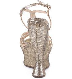 Sandália Plataforma Sinuous Metalizado