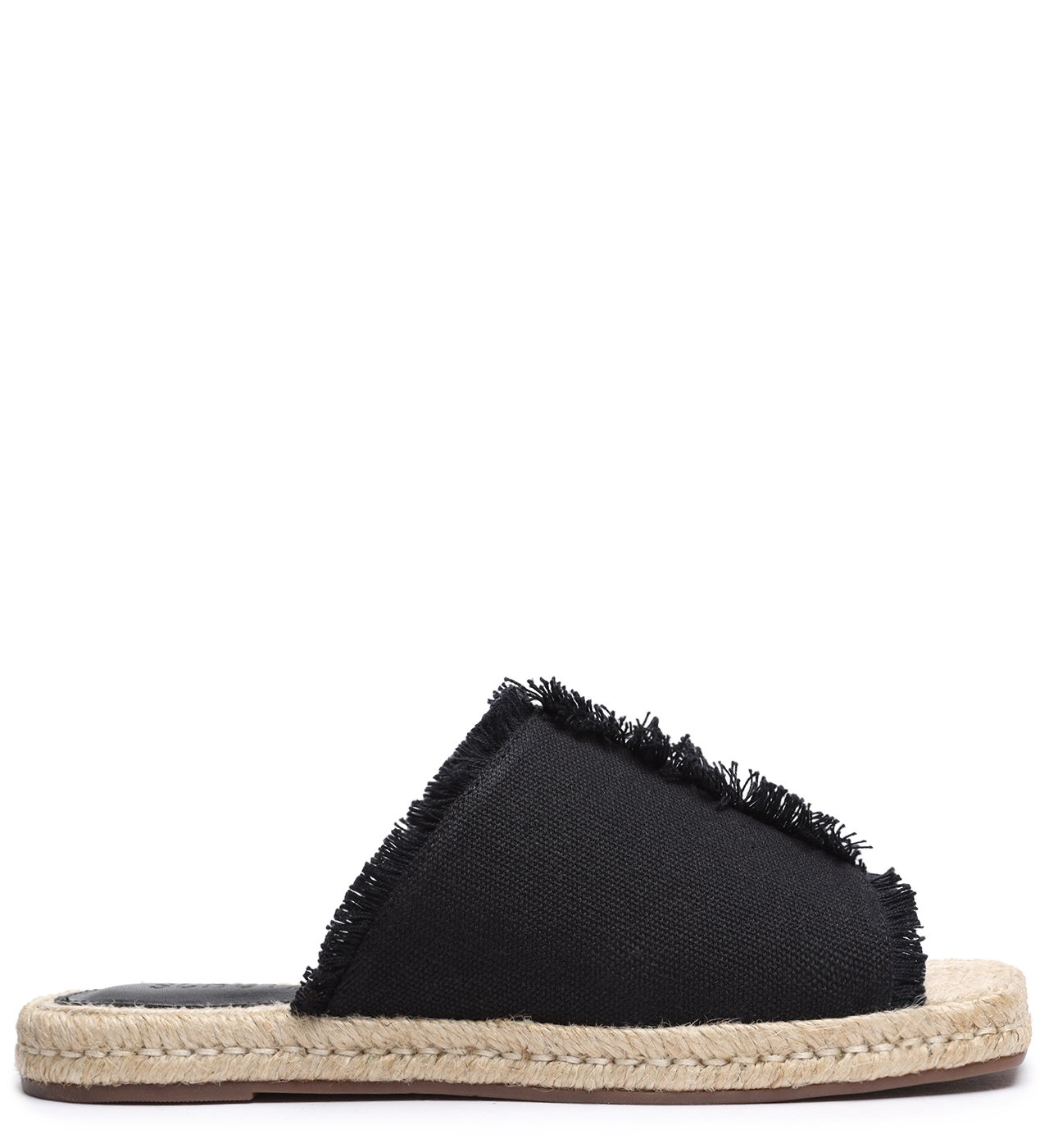 Flat Espadrille Destroyed Black | Schutz