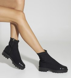 Bota Tratorada Knit Black