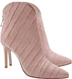 Bota New Western Croco Rose