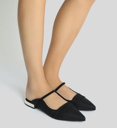 Flat New-S Girlie Rafia Black