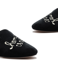 [On Demand] Homewear Loafer Lara Velvet Black