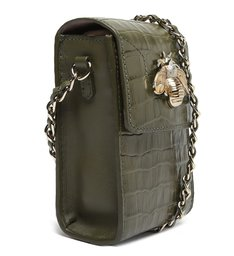 Bolsa Tiracolo Pequena 4GIRLS Believe Croco Verde-Militar